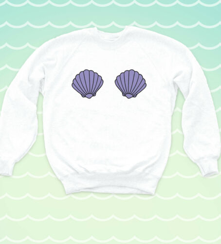 Ariel Seashell Sweatshirt Nautical Princess Sea Jumper Hipster Indie Mermaid Top