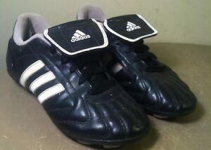 eb7cb04c3 Boys ADIDAS Soccer Cleats Shoes TraXion Trx Hard Ground 749822 Black ...