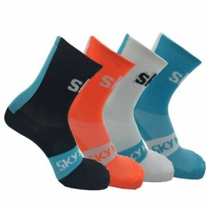 Men Sport Racing Cycling Socks Breathable Road Bicycle Basketball Stockings