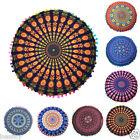 Indian Mandala Print Floor Round Bohemian Throw Sofa Pillows Case Cushions Cover