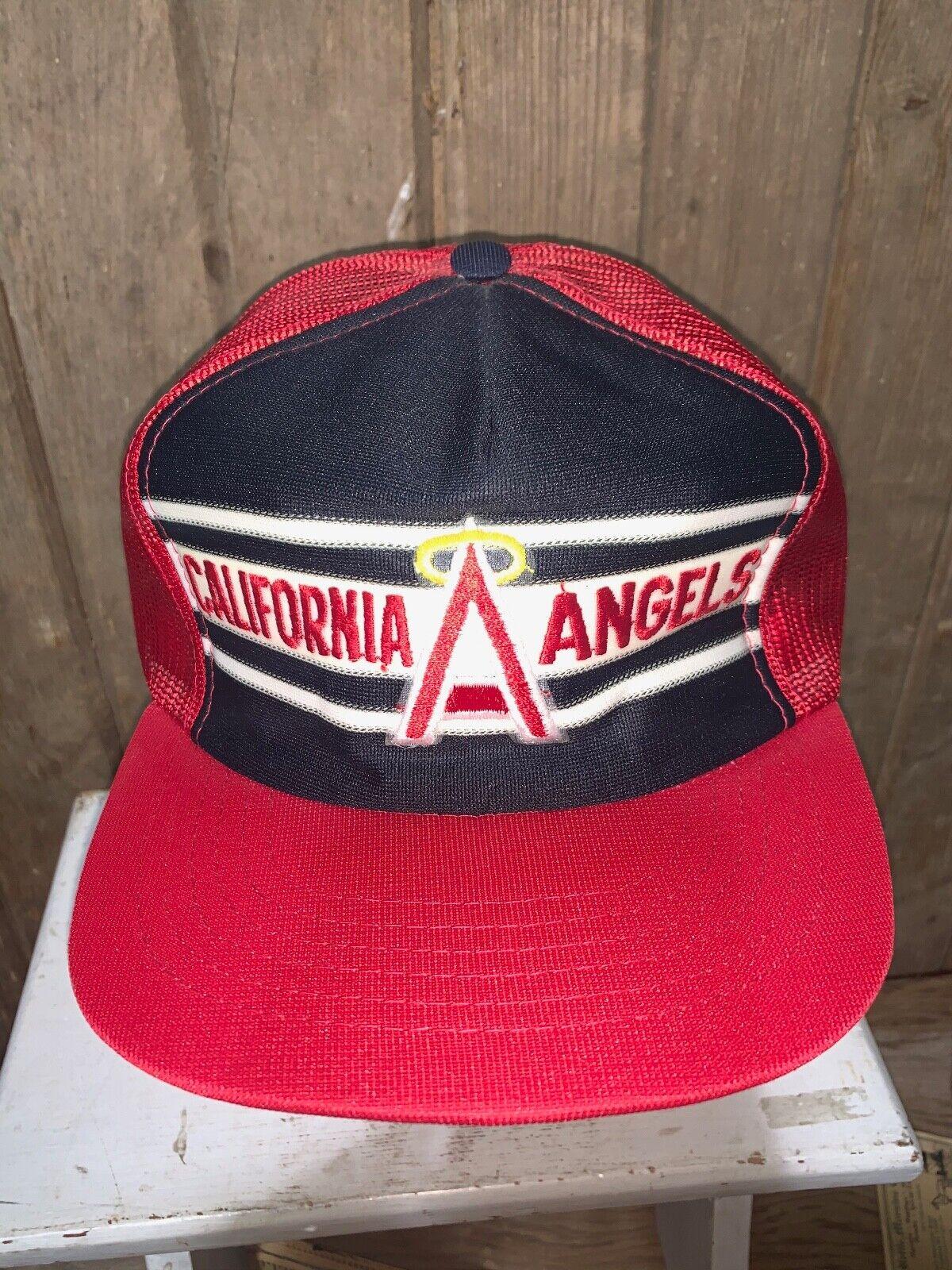 VINTAGE 80s Rare California Angels Red MLB Baseba… - image 2