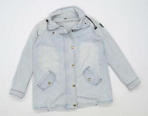Preworn Womens Size M Cotton Blend Blue Jacket