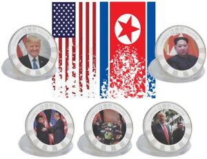 5 Medaillen Set Usa Korea Donald Trump Kim Jong Un Münze