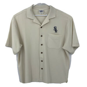 Vintage CHICAGO WHITE SOX Lee Sport Men's Short Sleeve Button Down Shirt Sz XL