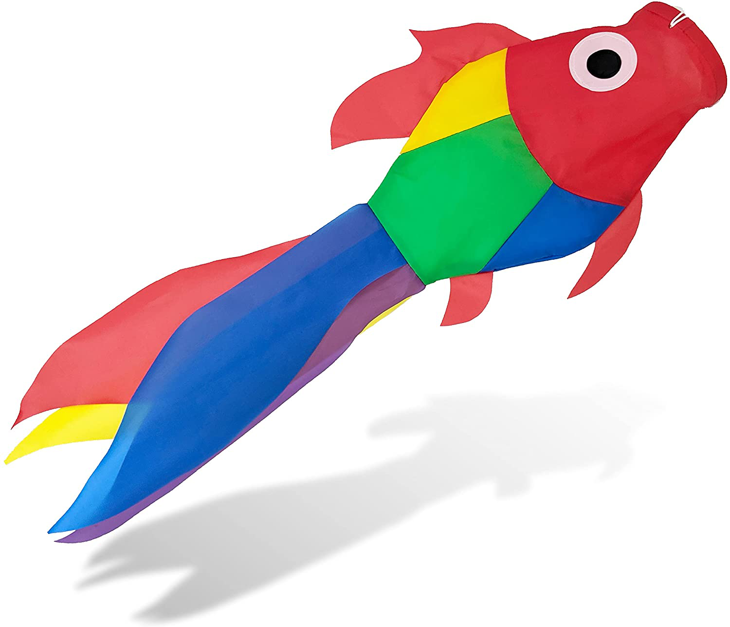 Madrona Brands Small Tropical Fish Windsock Primary Colors - Durable Outdoor Han