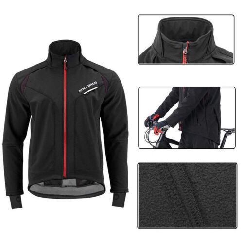 ROCKBROS Winter Cycling Jacket Thermal Warm Windproof Outdoor Long Sleeve Jacket