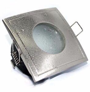 Détails sur Spot carré encastrable/orientable Salle De Bain IP65 ALUMINIUM  GU10 LED