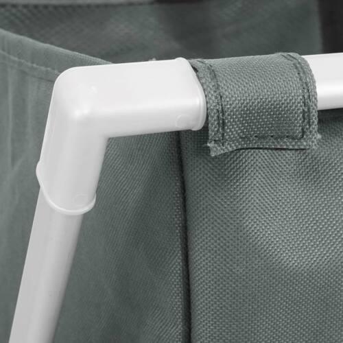 Wäschesammler HWC-C36 Laundry Wäschesortierer Wäschekorb 58x59x37cm 127l grau