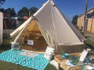 Image is loading 4M-Canvas-Bell-Tent-C&ing-Sibley-Tent-Yurt- & 4M Canvas Bell Tent Camping Sibley Tent Yurt Tents Waterproof ...