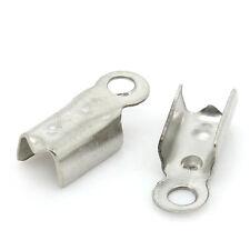 1000PCs BD End Caps For Bracelets/ Necklace Silver Tone 9x4mm