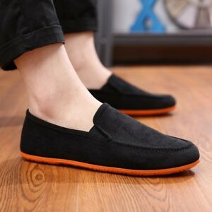 Beijing-Mens-Slip-On-Casual-Fashion-Canvas-shoes-Driving-Mocassin-Loafer-New