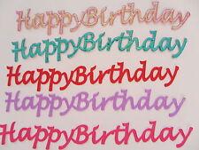 5 x Self-Adhesive Happy Birthday Embellishments For Cardmaking & Scrapboking