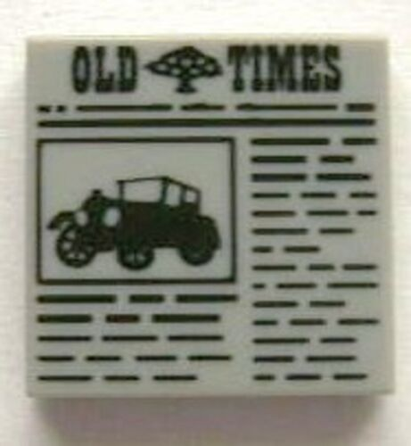 Light Bluish Gray Tile 2 x 2 with Newspaper /'OLD TIMES/' Pattern LEGO