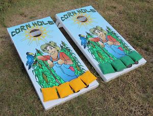 Terrific Details About Cornhole Boards Painted Farmer Graphics Bean Bag Toss Quality Regulation Size Inzonedesignstudio Interior Chair Design Inzonedesignstudiocom