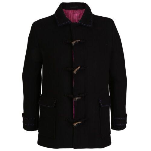 Esquire Coat Hand Bnwt Uk40 Duffle It50 Customised Black Holland PvFwUHqdP