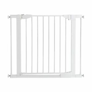 """5.5/"""" Munchkin Baby Gate Door Extension Metal Retractable For Stairs Safety White"""