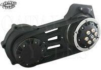 Ultima 2 Open Belt Drive Black Primary For Harley Softail Belt Drive 2007-17