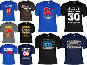 T Shirt 30 Geburtstag Geschenk Zum 30 Geburtstag Coole Spruche T