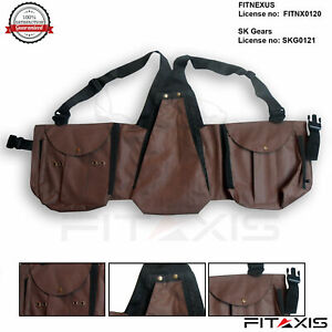 Nubuck-Leather-Vest-Bird-Hawking-Falconry-Hunting-Olive-Brown