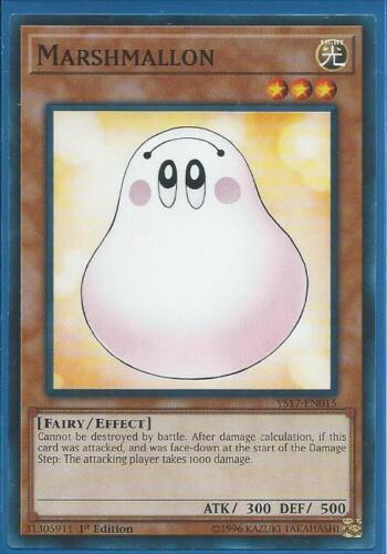 3x Yugioh YS17-EN015 Marshmallon Common Card 1st Edition