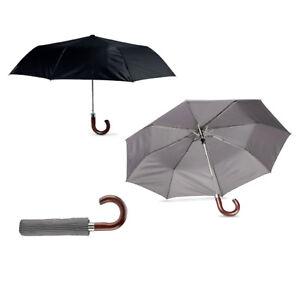 City Business Parapluie manche en bois auto ouverture fibre de verre Côtes cadre en acier