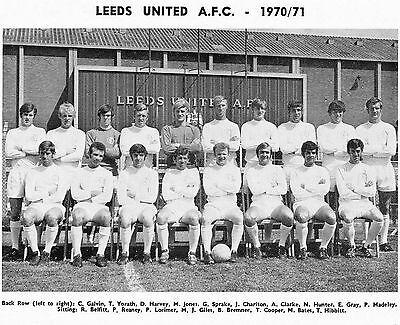 LEEDS UNITED FOOTBALL TEAM PHOTO>1970-71 SEASON