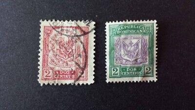 Gut 2 Briefmarken Republica Dominicana Dominikanische Republik BerüHmt FüR AusgewäHlte Materialien, Neuartige Designs, Herrliche Farben Und Exquisite Verarbeitung