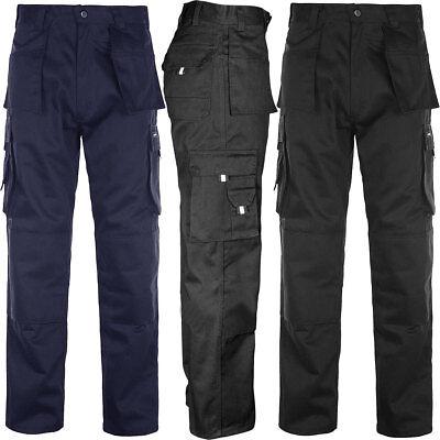 Mens Tuff Duty Cargo Combat Pants Work Wear Multi Pocket Triple Stitch Trouse... SchöN In Farbe