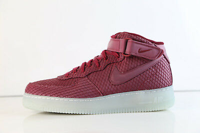 save off 5d79d b9ad7 Nike Air Force 1 Mid 07 LV8 Team Red Clear 804609-603 8-14 af1 prm | eBay