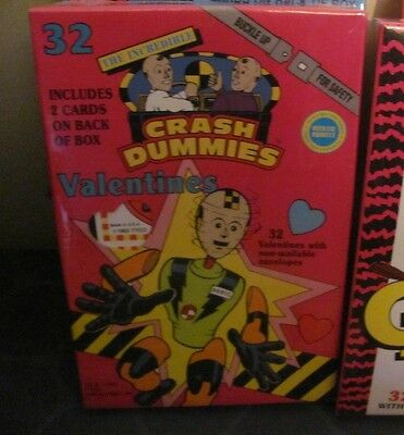 VINTAGE TYCO Crash Dummies Valentine Cards NEW SEALED 32 Cards