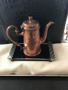 Hearty Dansk Copper Chocolate Pot Arts & Crafts Periods & Styles Antiques