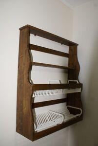 Credenza-piattaia-in-legno-da-parete-cucina-arredamento-antico-vintage