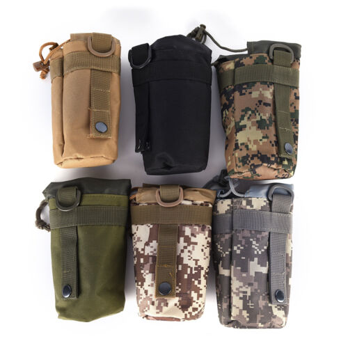 Tactical Military System Water Bottle Bag Kettle Pouch Holder Bag Outdoor S6