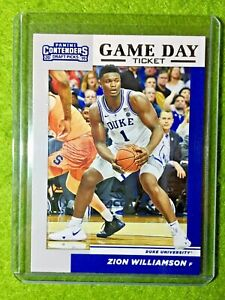 ZION-WILLIAMSON-ROOKIE-CARD-PANINI-RC-DUKE-JERSEY-1-PELICANS-2019-Contenders-rc