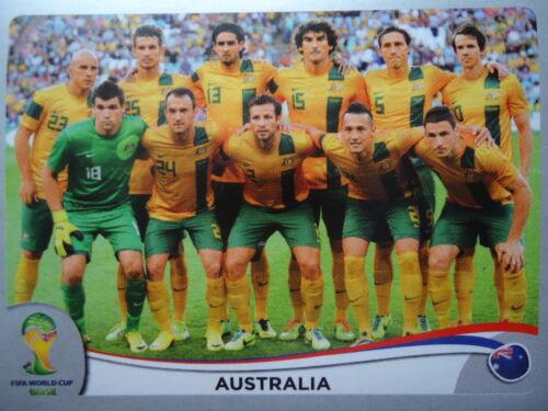 Panini 166 Team Australia Australien FIFA WM 2014 Brasilien