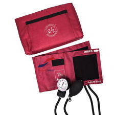 Emi Burgundy Aneroid Sphygmomanometer Manual Blood Pressure Bp Cuff Monitor