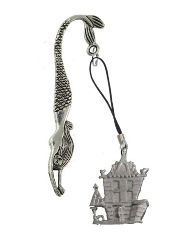 Haunted House 3x4.2cm gt278 English Pewter On A MERMAID Bookmark