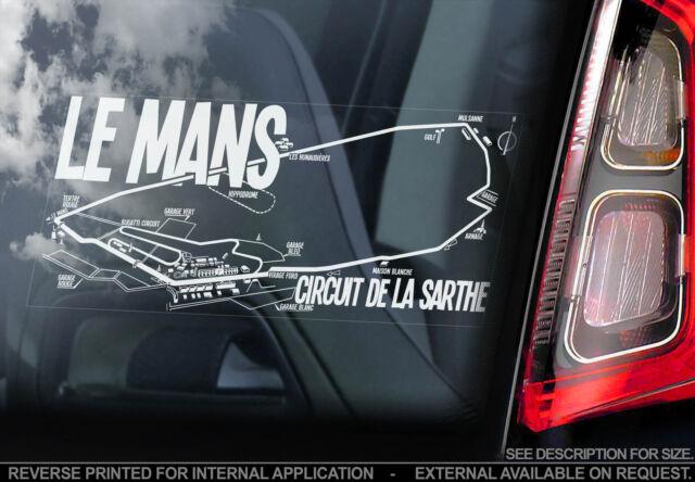 Le mans car window sticker la sarthe circuit des 24 hours formula 1 track