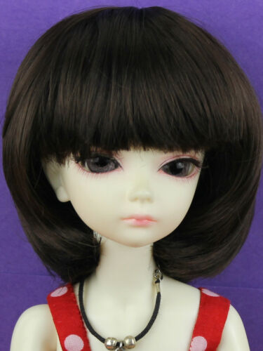 "WG5626 Darkbrown 5-6/"" Bob Wig for 1//8 BJD Lati Yellow Dollfie//Similar Size Doll"