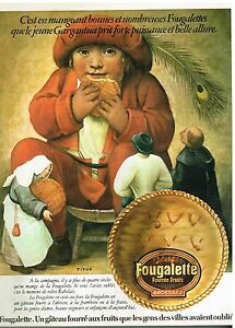 Breweriana, Beer Dynamic Publicité Advertising 1974 Le Gateau Fougalette Par Brossard High Quality And Inexpensive