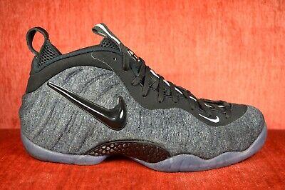 sports shoes 38dd4 95d7c WORN TWICE Nike Air Foamposite Pro Grey Heather Size 11 Fleece Wool  624041-007 | eBay