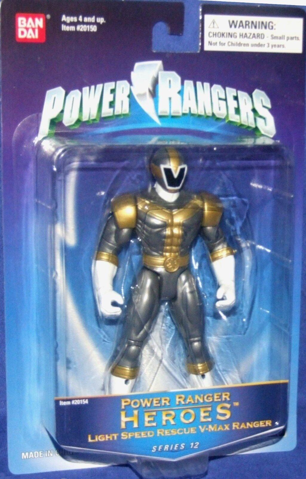 Power Rangers Lightspeed Rescue V-Max Titanium Ranger Heroes Series 12 New