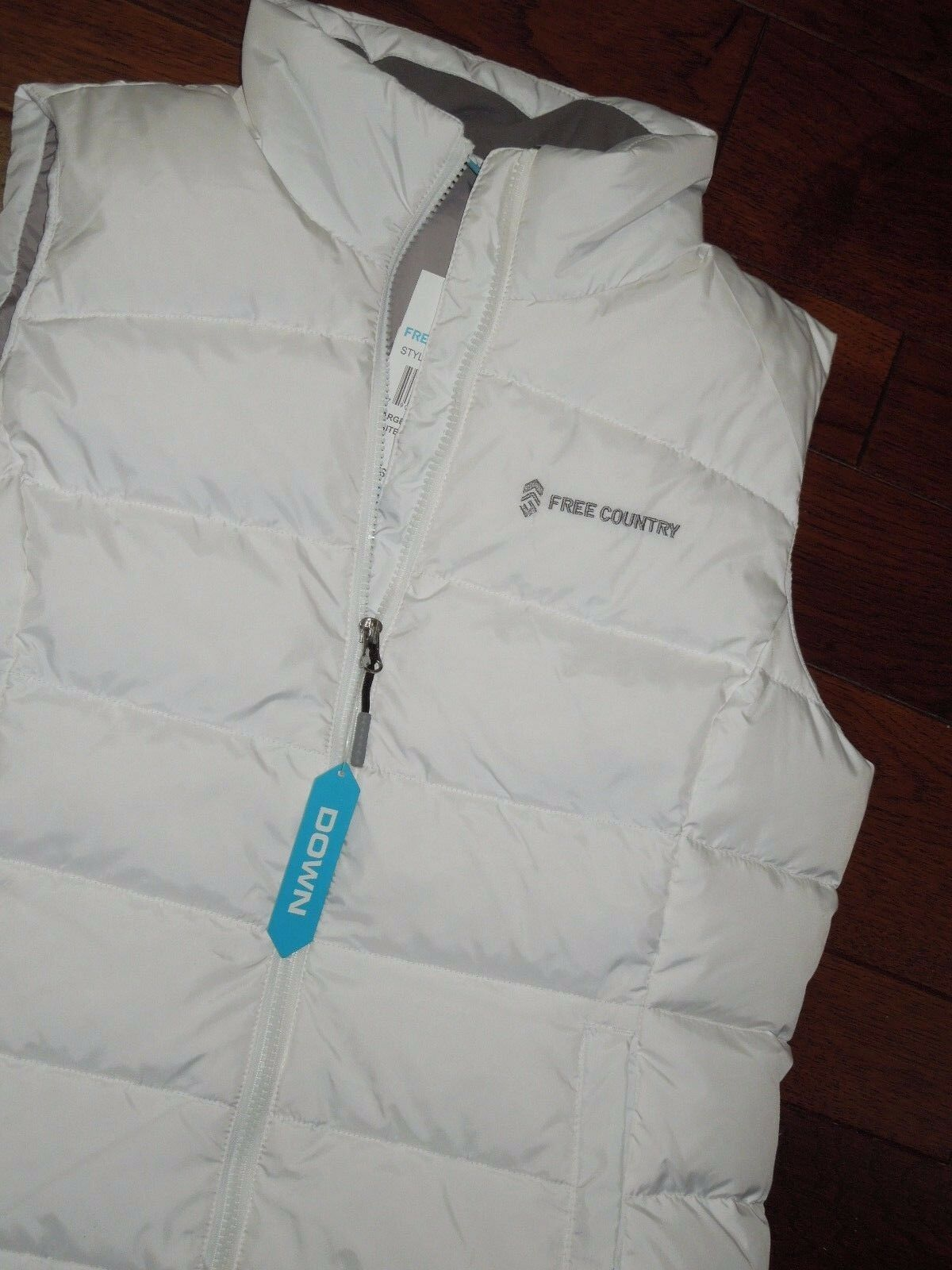 Free Country Country Country women's  full zip Down winter Vest  LARGE white 765a84
