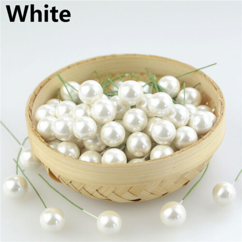 Decoration Christmas Ornament Artificial Flowers Plastic Berries Cherry Pearl