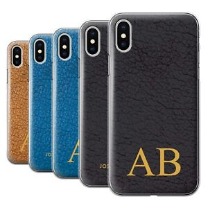 info for 32e09 d4705 Details about Personalised Custom Leather Effect Phone Case for Apple  iPhone X/10/Cover