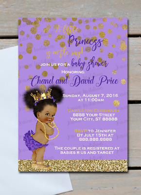 Little Princess Baby Shower Invitations 10 5x7 Printed