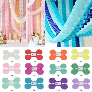 3M-Tissue-Paper-Garlands-Bunting-Party-Wedding-Baby-Shower-Hanging-Paper-Decor
