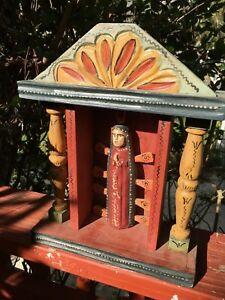 Details about Wooden spirit doll ( ??) with altar