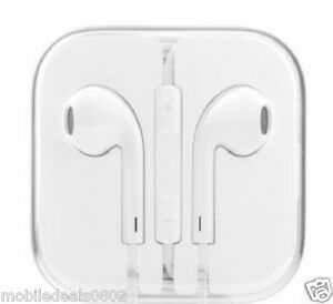For Apple Iphones Earphones With Mic for Iphone 5 / 5s/ 6 / 6S/6+in White color.