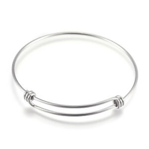 30pc-304-Stainless-Steel-Expandable-Wire-Bangle-Blanks-Charm-Bracelet-2-6-034-x1-5mm